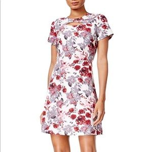 Kensie Women's Cutout Printed A-Line Dress size S
